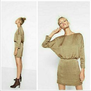 NWT Zara Trafaluc Geometric Print Dress Low Back